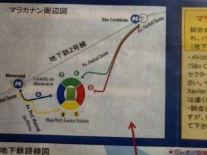 マラカナン地下鉄地図