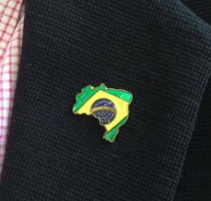 ブラジルピンバッジ