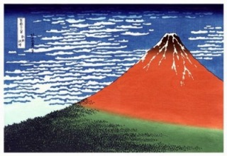 北斎さん赤富士